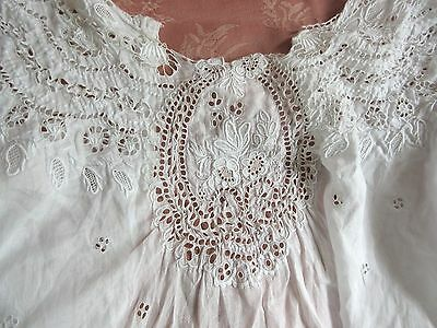 Antique Broderie Anglaise Ayrshire Embroider Lace Dress Remnant Cutter or Blouse