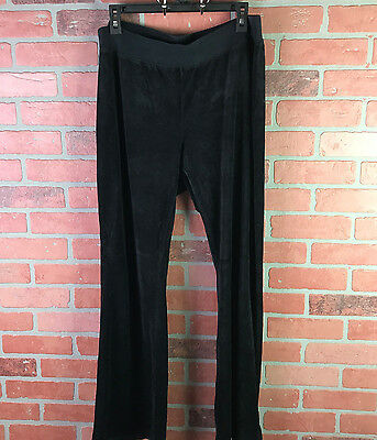 MOTHERHOOD Large Black Velour Plush Maternity Sweat Track Pants