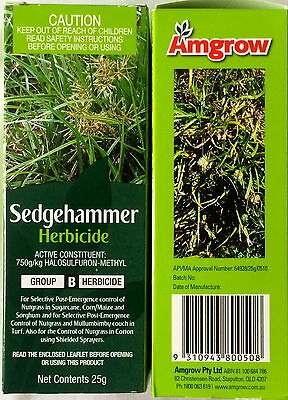 Amgrow Sedgehammer Herbicide for control of nutgrass 25g