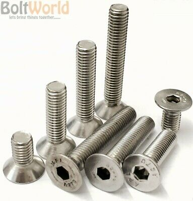 Unc A2 Stainless Steel Countersunk Csk Socket Caps Machine Screws Allen Bolts