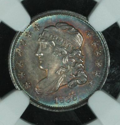 1835 Bust Half Dime Large Date Large C, NGC MS66+ TONED