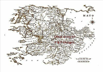 Map of County Mayo, Ireland, dated 1840.