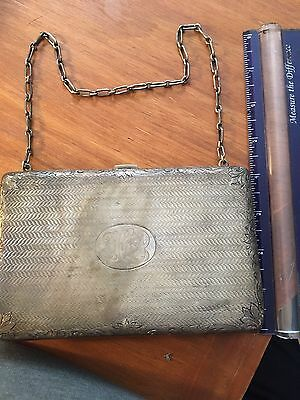 Antique Silver Purse, Highly Detailed, 3 Compartments, Must See Genuine Antique