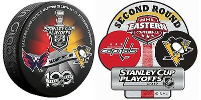 Washington Capitals Vs Pittsburgh Penguins 2017 2Nd Round Playoffs Dueling Puck