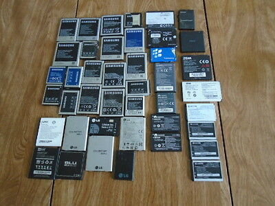 Lot of 42 Used Cell Phone Batteries Samsung,Lg,Kyocera