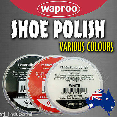 Waproo Shoe Polish Cream - Restore Colour To Scuffed Leather Shoes Boots