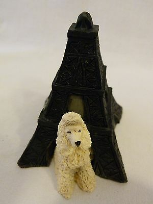 Sandicast Barkitecture Poodle & Eiffel Tower Dog House # A102 Made in USA
