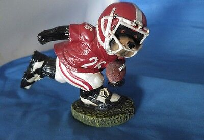 "Dog ""Football Player"" Resin Figurine Statue figure statue 4"" By Giftco"