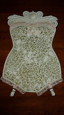 """EC Corset Girdle Garter unsure?? Of use  Quilted pocket plastic lined 17x12"""""""