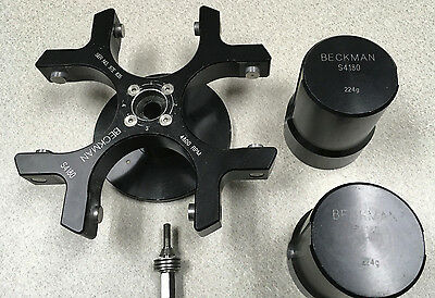 Beckman Centrifuge Swinging Bucket Rotor Model S4180 With Buckets 224G Gs-15R