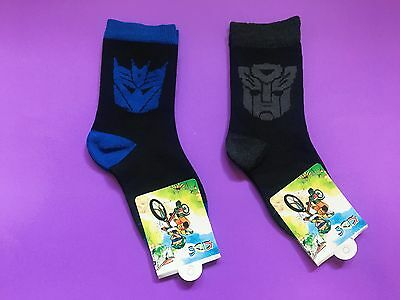 2 Pairs Transformers Boys Girls Kids Birthday Party Socks Starwars Size 5-8