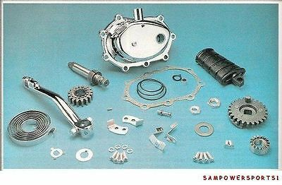 New Chrome Complete Kick Start Kit For Harley 4-Speed Big Twins 36-86