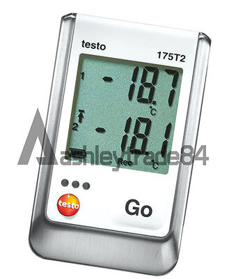 Testo 175-T2 2-Ch Temperature Data Logger, Internal (NTC) and Ext Sensor (NTC)