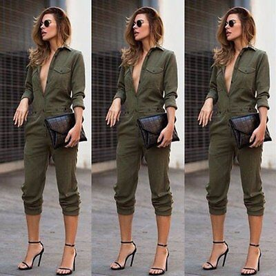 Women Clubwear Playsuit Casual Long Sleeve Party Jumpsuit&Romper Trousers Pants
