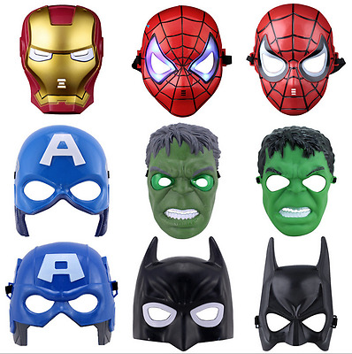 Boy Cool Light Up Hot Avengers Heros Masquerade Masks for Kid Adult Party Mask