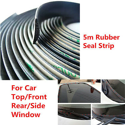 5m Car Windshield Seal Strip Sunroof Triangular Window Sealing Trim Weatherstrip