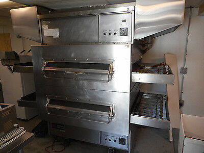 "Middleby Marshall Double Deck Gas Conveyor Pizza Oven, Ps 360, 40"" Decks, A-1 Co"