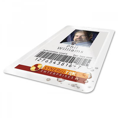 GBC HeatSeal UltraClear Thermal Laminating Pouches, 7mm, Badge 100 ID Card