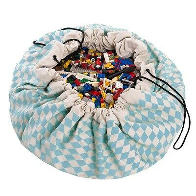 Play and Go Lego Toy Storage Bag in Diamond Blue print