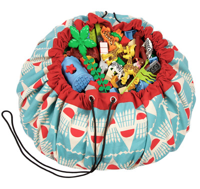 NEW Play and Go Lego Toy Storage Bag in Badminton print from Purple Turtle Toys