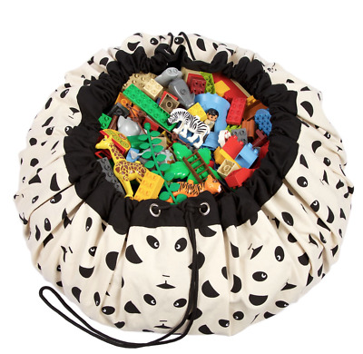 NEW Play and Go Lego Toy Storage Bag in Panda print from Purple Turtle Toys