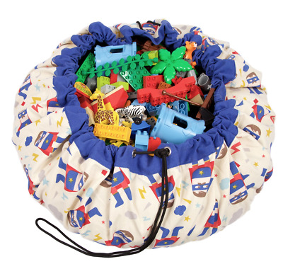 NEW Play and Go Lego Toy Storage Bag in Superhero print from Purple Turtle Toys