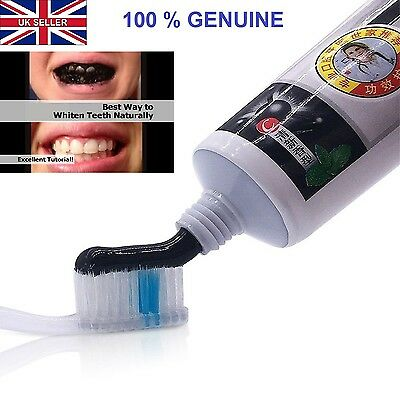 Active Bamboo Charcoal Black Toothpaste  Natural Fresh Polish Teeth Whitening