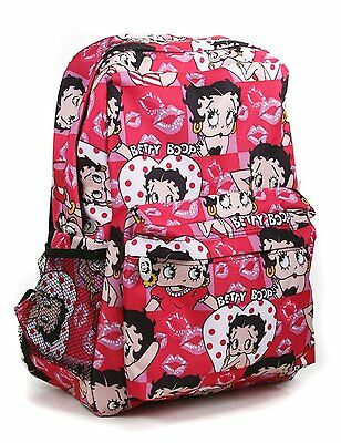 Pink Lips Betty Boop All Over Print Backpack