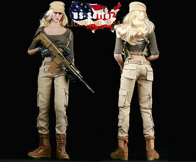 """1/6 Women Combat Soldier Clothing Set For 12"""" Phicen Hot Toys Female Figure USA"""