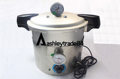 5L stainless Steam Autoclave Sterilizer Dental Medical Pressure POT