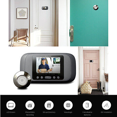 Eques Digital Door Peephole Viewer LCD Security Camera Monitor Record Shooting