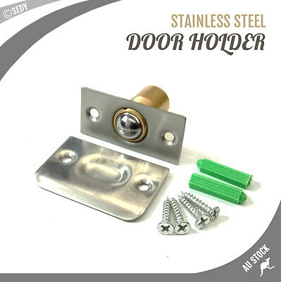 NEW Adjustable Ball Roller Latch Door Holder Stop Catch Stopper Stainless Steel