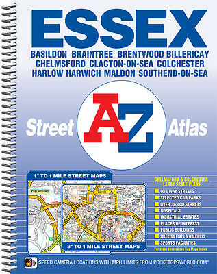 Essex Street Atlas by A-Z Maps (Spiral)