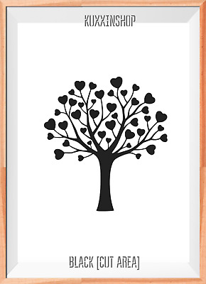 Love Tree Mylar Reusable Stencil Airbrush Painting Art Craft DIY Home Decor