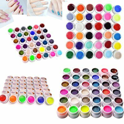 36 Gel UV Colorati Coprenti Unghie Nail Art Manicure Glitter/Pure/Polvere set