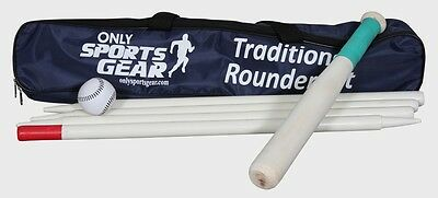 OSG 6 Piece Wooden Rounders Set With Carry Bag