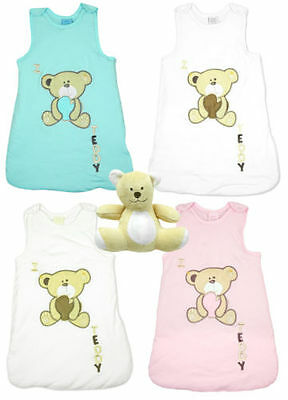 Baby Sleeping Bag 2.5 Tog Sleep Sack & Teddy Bear Gift Set Newborn to 12 Months