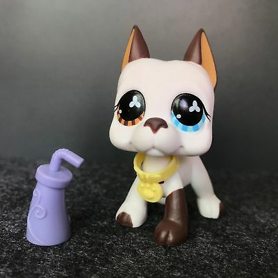 Hasbro Littlest Pet Shop Collection LPS Toy Great Dane Dog Flowers Eyes Puppy