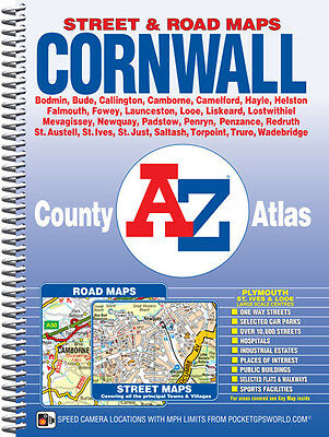 Cornwall County Atlas by A-Z Maps (Street Map, Spiral)