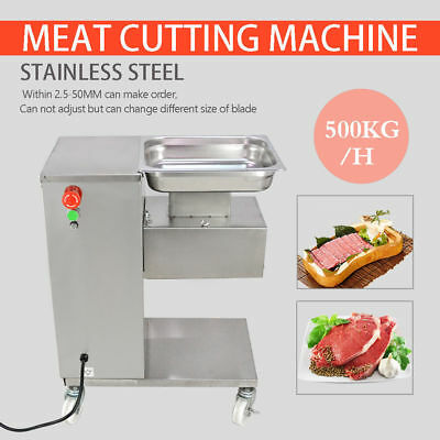 500KG Meat Cutting Machine ,Meat Cutter Slicer Output,w/ One/Two Sets Blade ,