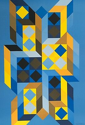 Victor VASARELY (1906-1997), Tridimor, 1969, handsigniert, Lithographie