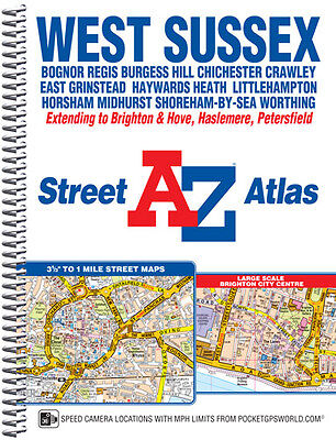 West Sussex Street Atlas by A-Z MAps (Spiral)