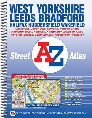 West Yorkshire Street Atlas by A-Z Maps (Spiral)