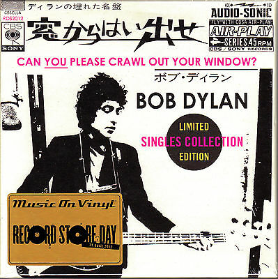"4 x 7"" BOX vinyl BOB DYLAN can you please crawl NUMBERED RSD 2012 SEALED 45 NEW"