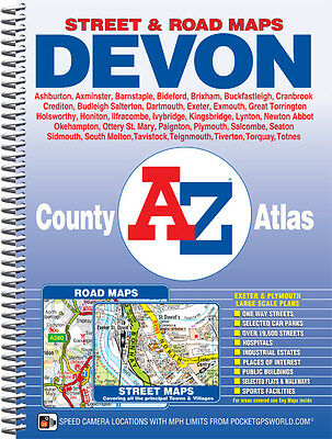 A-Z Devon County Atlas (Spiral, street map)