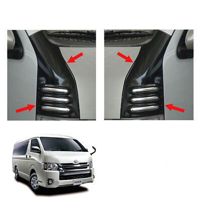 Line Window Sill Cover Front Trim Carbon Black For Toyota Hiace Van 2005 2016