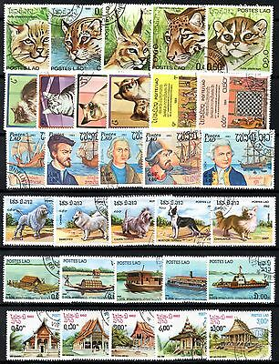 (Ref-10163) Laos - Selection of Stamps from the 1980's  All Different  Used  CTO
