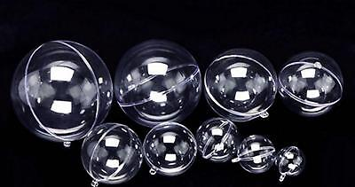 Hot Clear Plastic Craft Ball Acrylic Transparent Sphere Bauble,christmas baubles