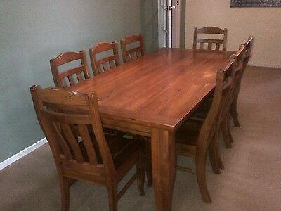 Solid Blackwood dining table and 8 chairs