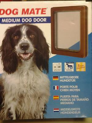 Dog Mate Pet Dog Door Flap Dogs & Cats Medium BROWN 215 215W Flap size 26 x 22cm